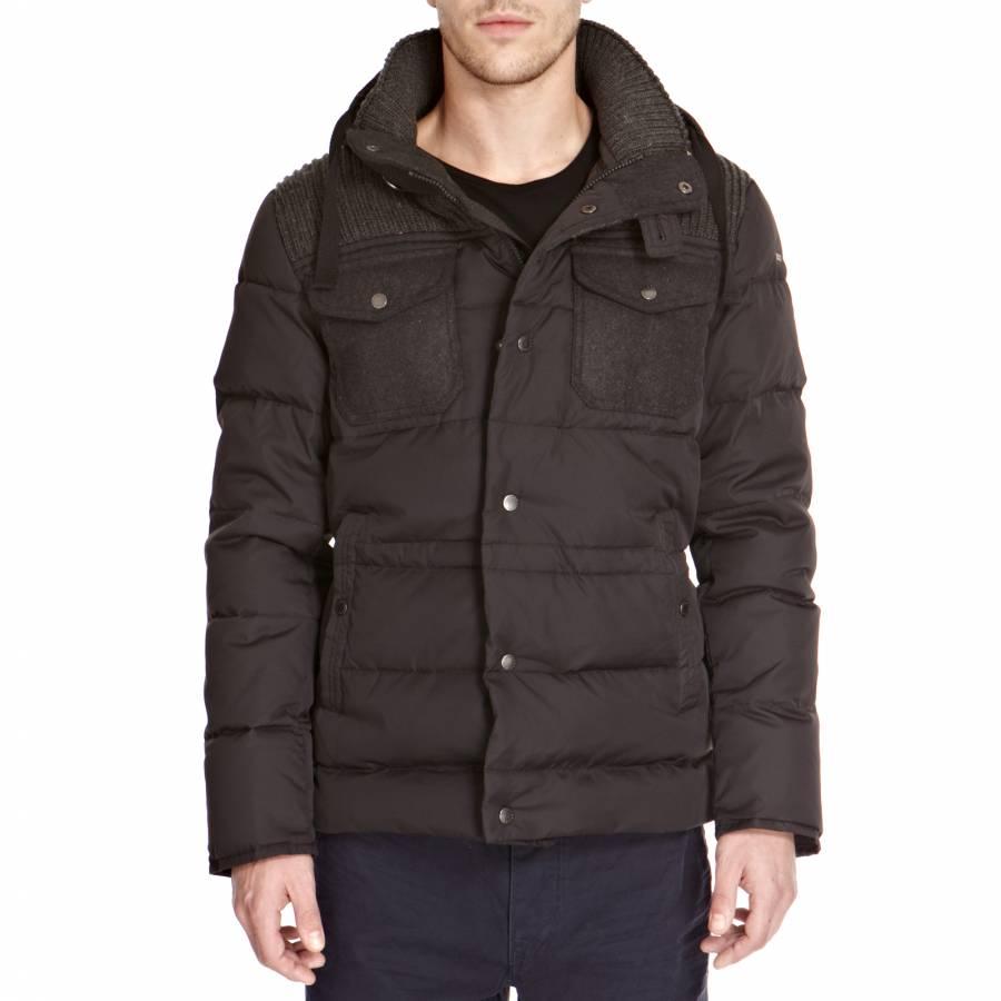 71684fd77f524 Black Padded Puffer Jacket - BrandAlley