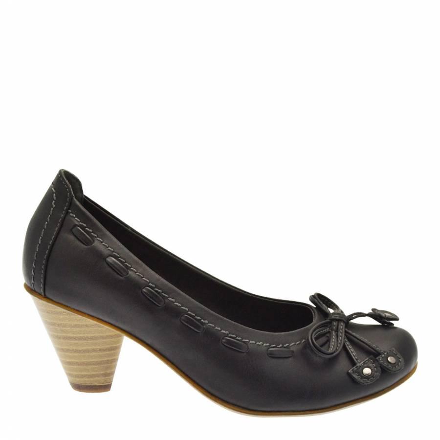 ff04c08d358b5 Black Lace/Bow Shoes 5cm Heel - BrandAlley