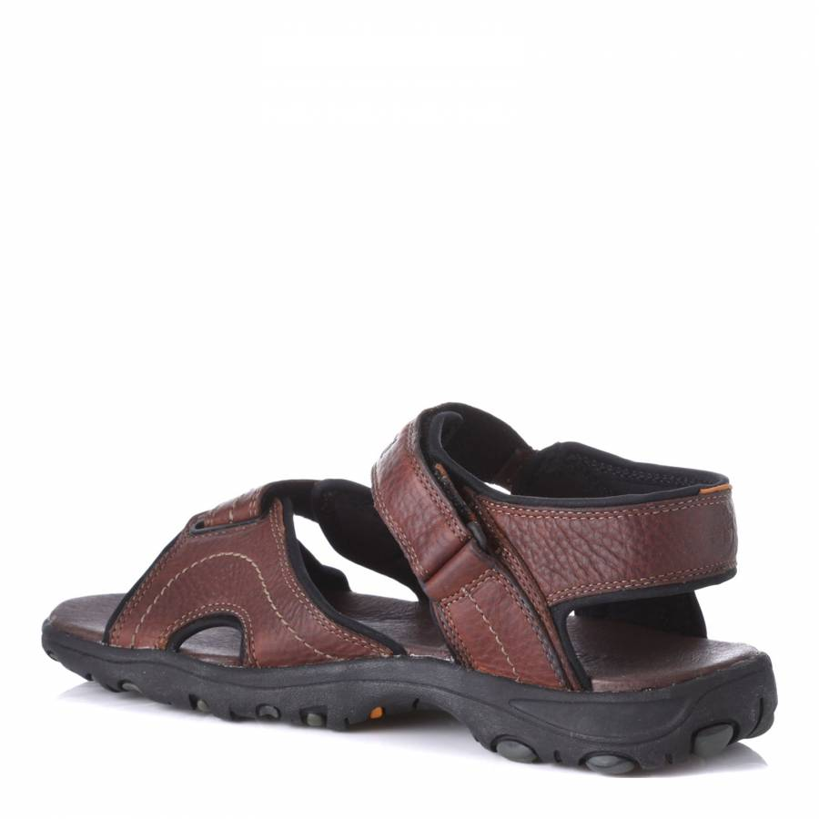 d3e479dbf855 Brown Leather Sandals - BrandAlley