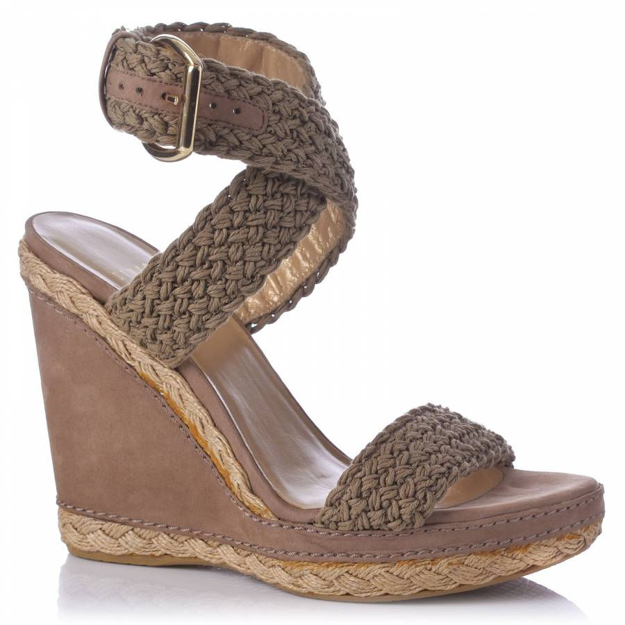 7d09c5b19ff0 Stuart Weitzman Brown Wedge Sandals 12cm Heel