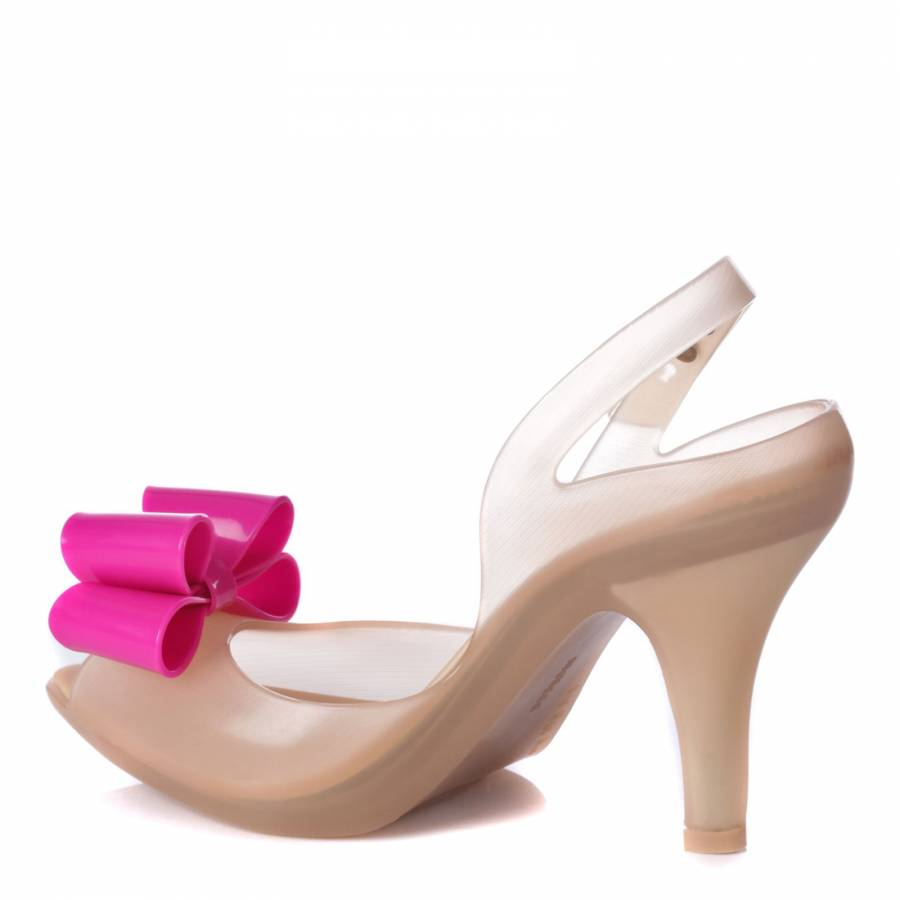 2593a7f66cd Nude Lady Dragon Bow Shoes Heel 10cm - BrandAlley