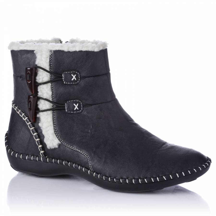 9f4deebea66e Black Deana Ankle Boots - BrandAlley