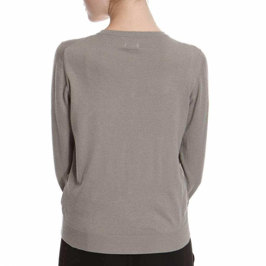 33f80f56bf7bd Hoss Intropia Women s Pale Green Ruffle Silk Cashmere Cardigan