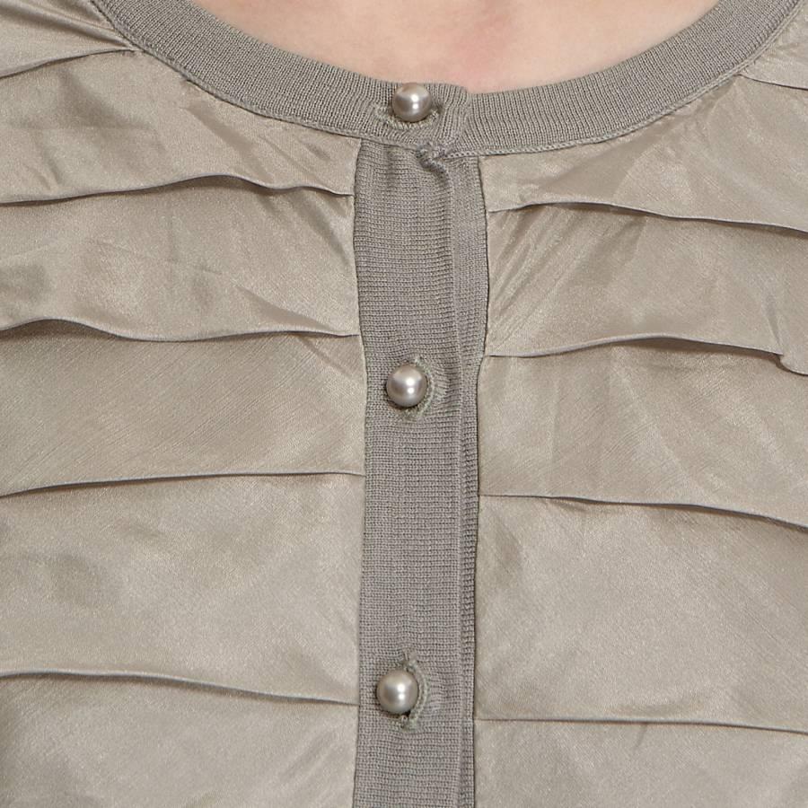5d846d0074232 Women s Pale Green Ruffle Silk Cashmere Cardigan - BrandAlley