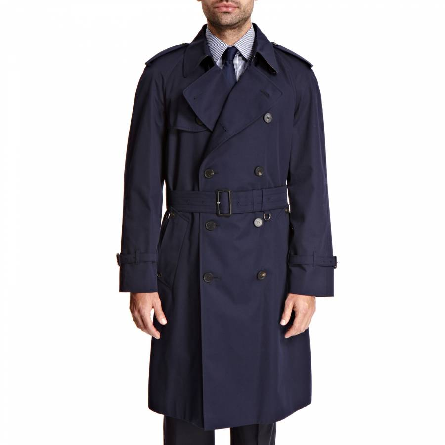 d2be42838 Men s Navy Kingsgate Double-Breasted Trenchcoat - BrandAlley