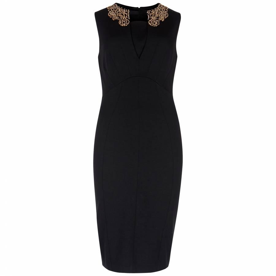 f1498dbe4 Women s Black Edella Embellished Collar Dress - BrandAlley