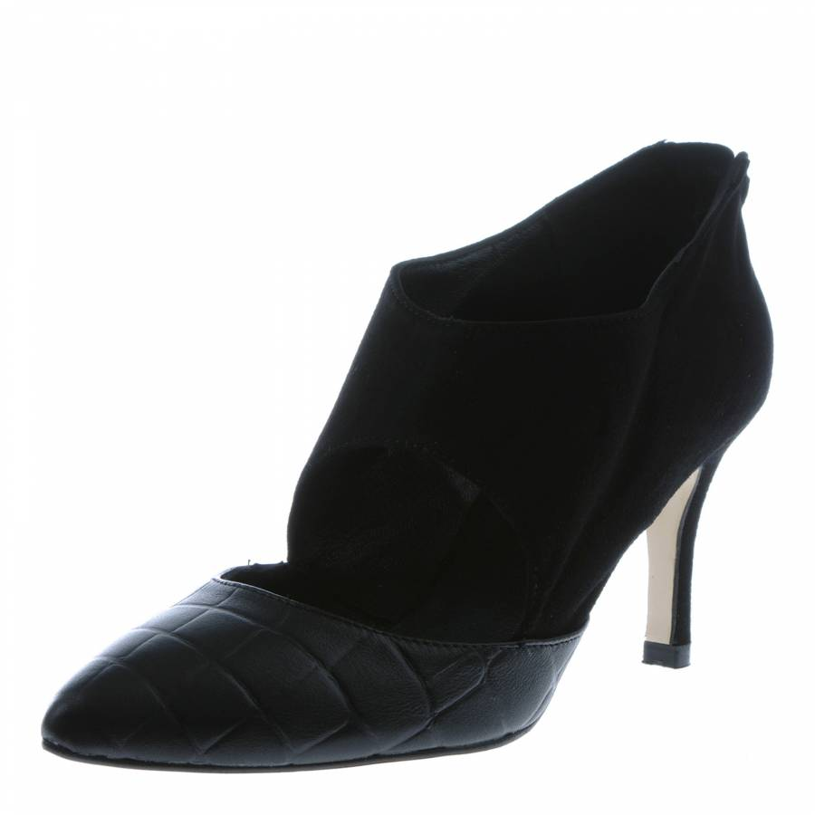 a3b23dbdba0 Georges Rech Women's Black Suede Cut-Out Ankle Boots 8cm Heel. prev. next.  Zoom