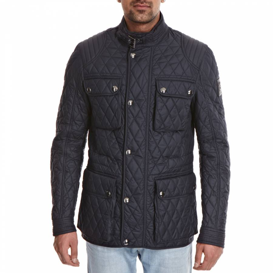 d6fa17d3310 Men's Navy Parkstone Quilted Jacket - BrandAlley