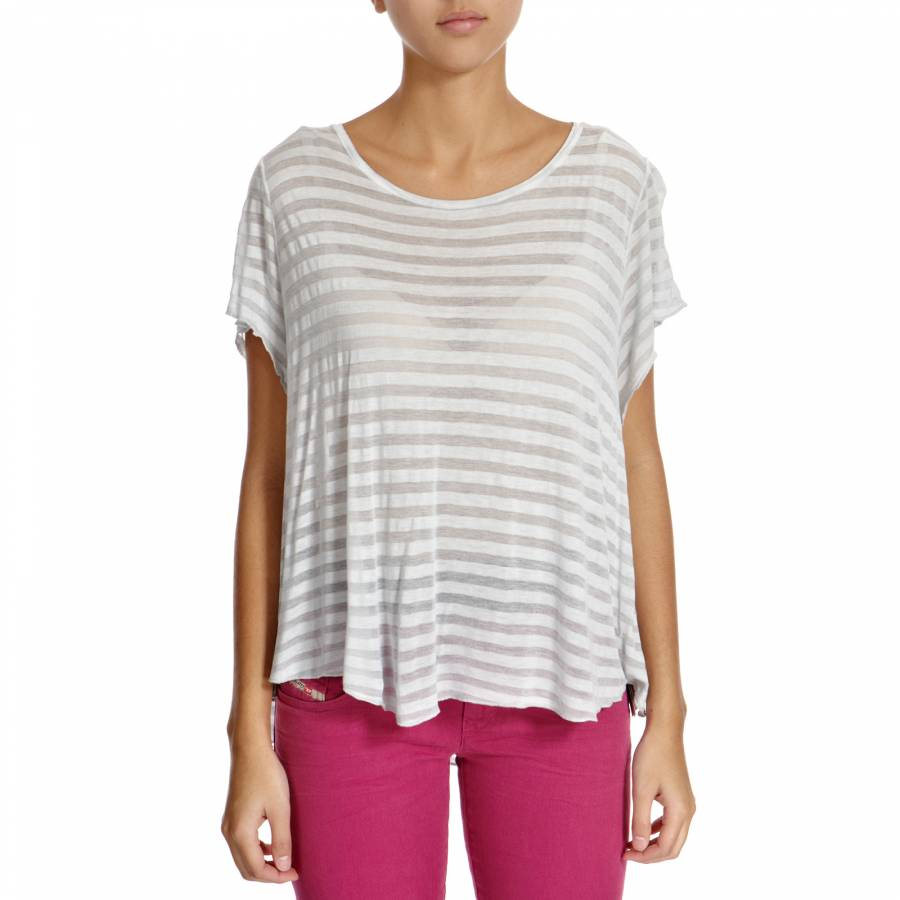 Light grey striped jersey t shirt brandalley for Grey striped t shirt