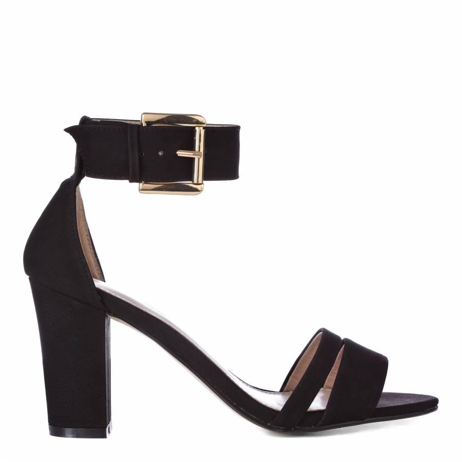 20b1e59f5 Carvela Kurt Geiger Black Carly Ankle Strap Sandals 8.5cm Heel