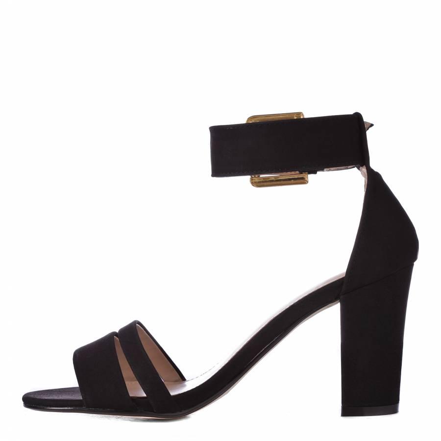 6eddd5ba5 Black Carly Ankle Strap Sandals 8.5cm Heel - BrandAlley