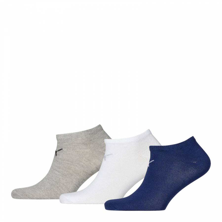 7d30326f807a6 Unisex Pack of Six Navy/Grey Basic Trainer Socks - BrandAlley
