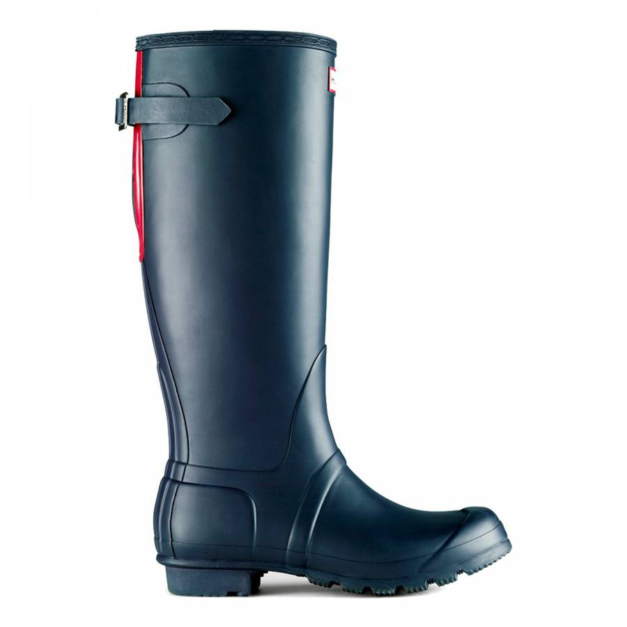 ad62d80b15c Women's Navy/Crimson Pink Original Adjustable Back Wellington Boots