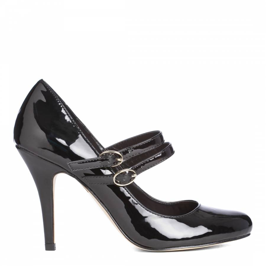 Black Patent Kelly Court Shoes Heel