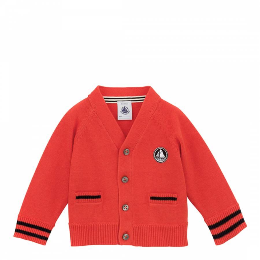 4efe038c2 Baby Boy Red V-Neck Cardigan - BrandAlley