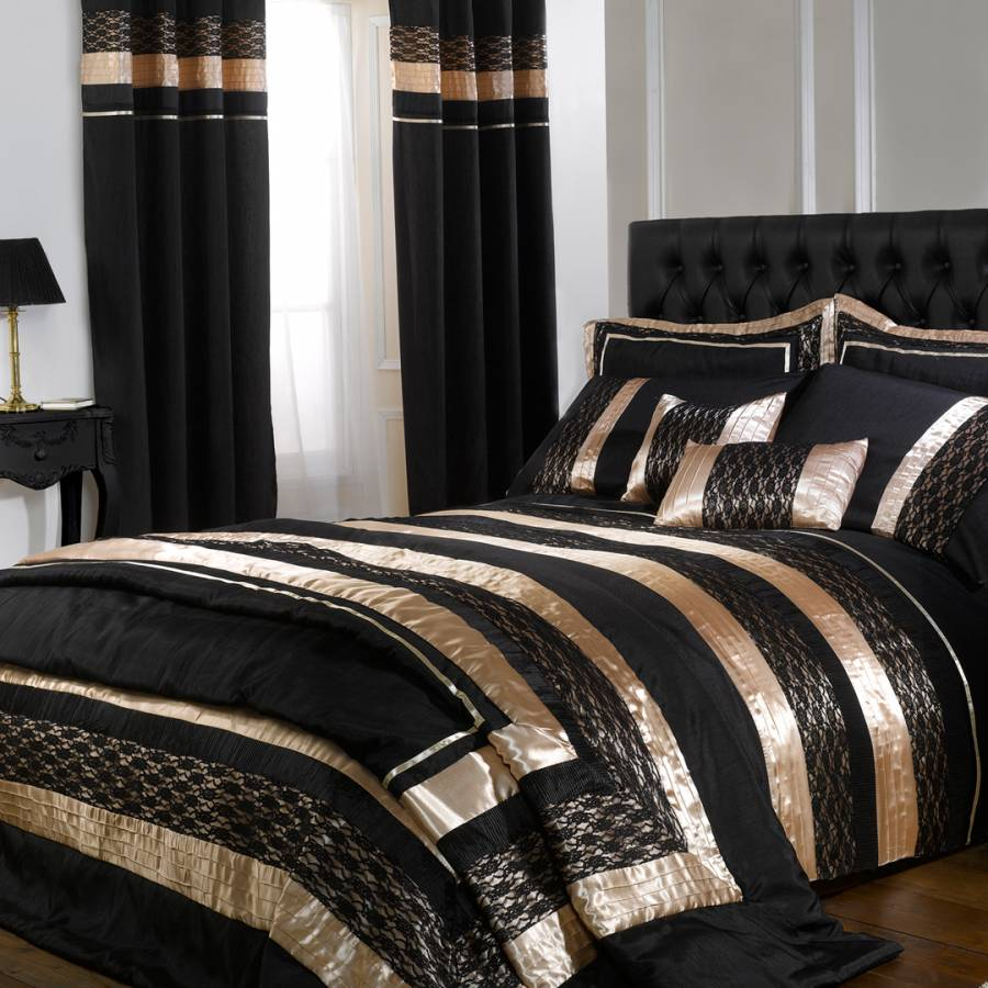 Black And Gold Double Bedding Sets