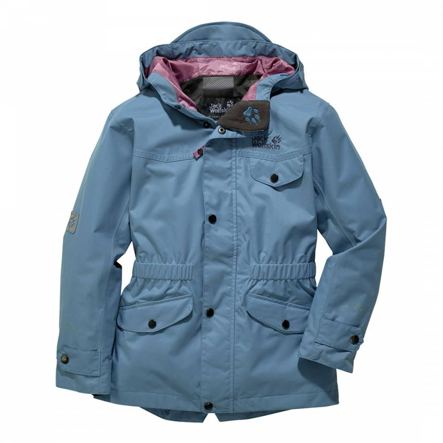 e73520dc80c6 Girl s Smoke Blue Virginia Parka Jacket - BrandAlley