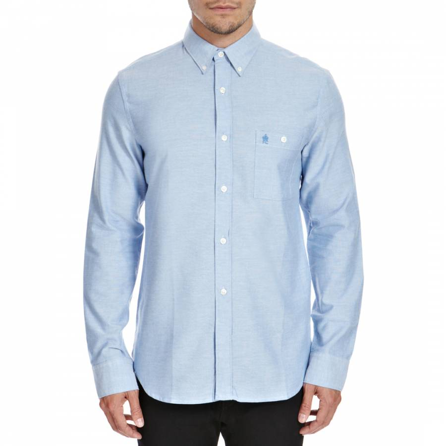 Light blue oxford cotton shirt brandalley for French blue oxford shirt