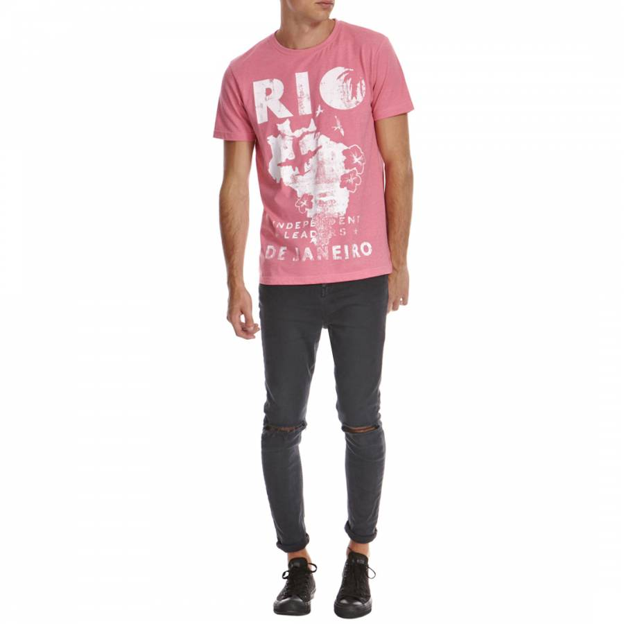82e38b63eb3f Pink Rio Cotton Blend T-Shirt - BrandAlley
