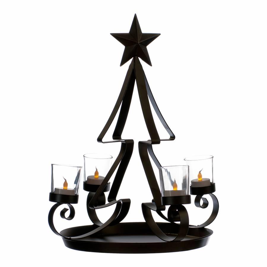 Black metal christmas tree candle holder cm brandalley