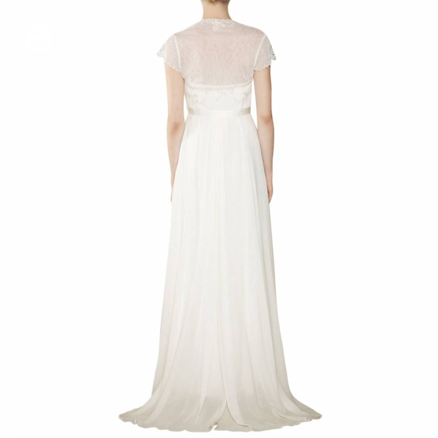 Ivory Rosella Georgette Silk Bridal Dress