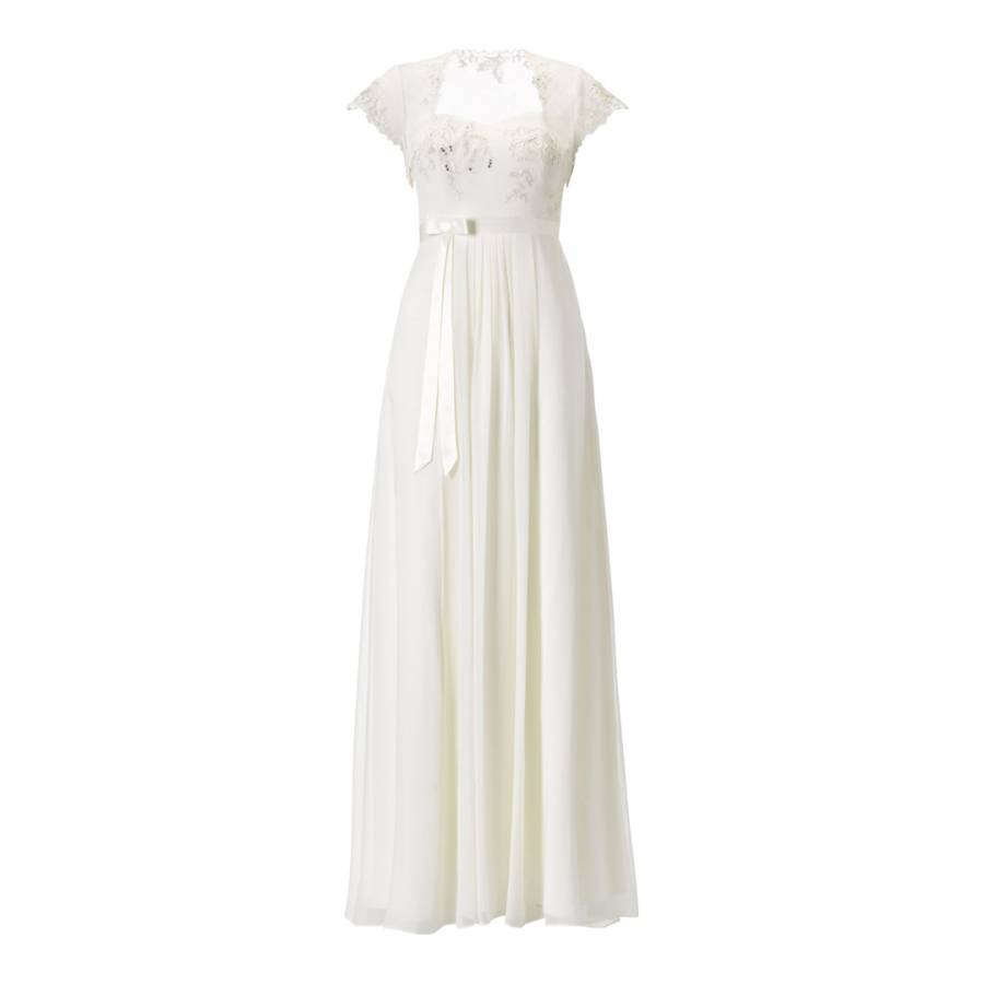 Ivory Rosella Georgette Silk Bridal Dress