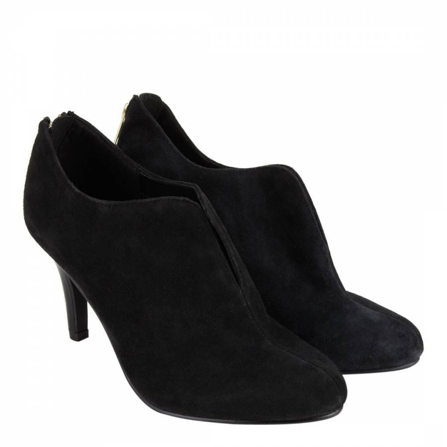 d8e2d5c1c0e1 Black Leather Caitlyn Shoe Boots 7cm Heel - BrandAlley