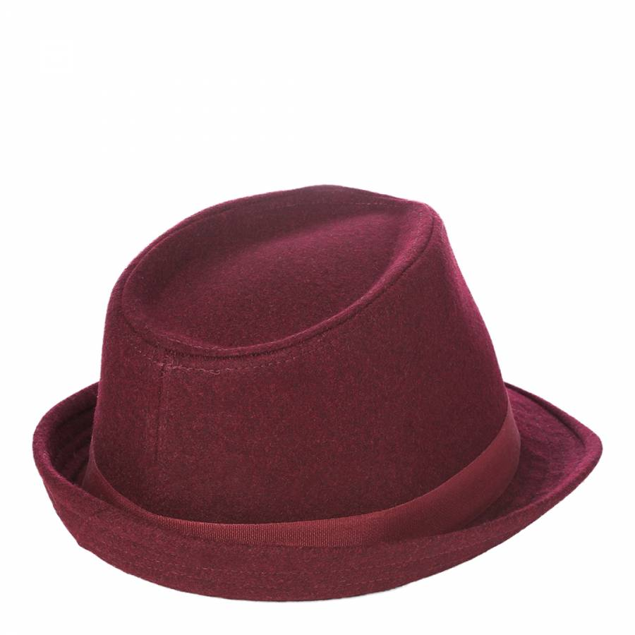 fbf9cf36be Ted Baker Burgundy Feather Trilby Hat