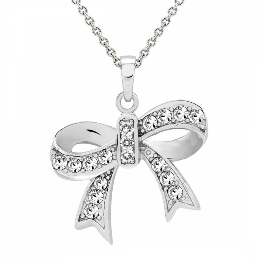 42d42c182b253 Silver Swarovski Elements Crystal Bow Tie Necklace - BrandAlley