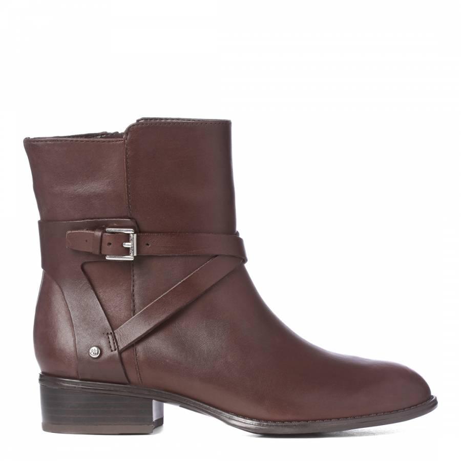 987ace6b050c Lauren Ralph Lauren Brown Leather Camila Ankle Boots