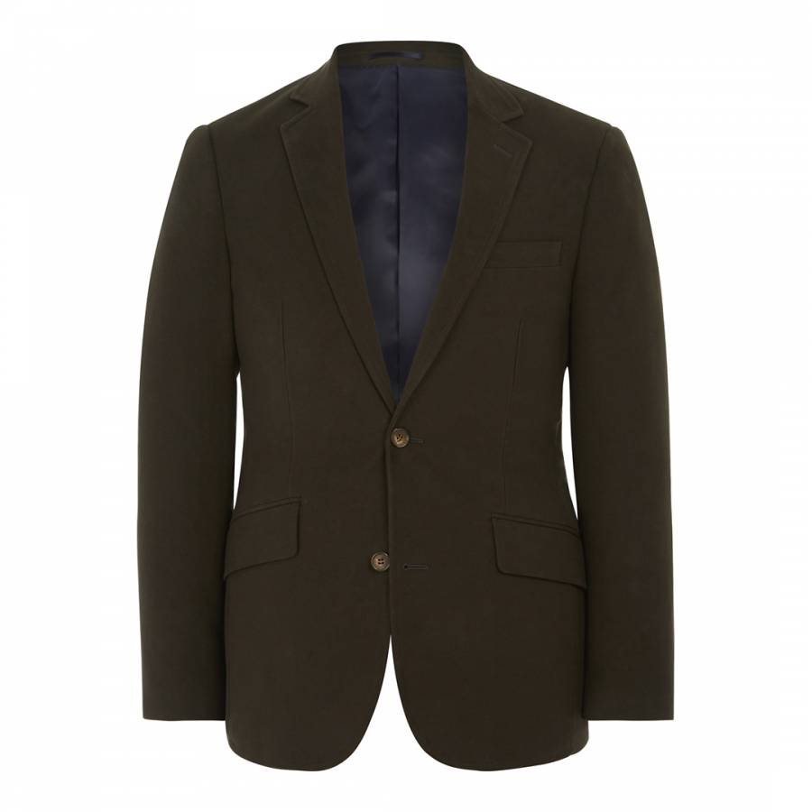 Green Moleskin Cotton Blazer Brandalley