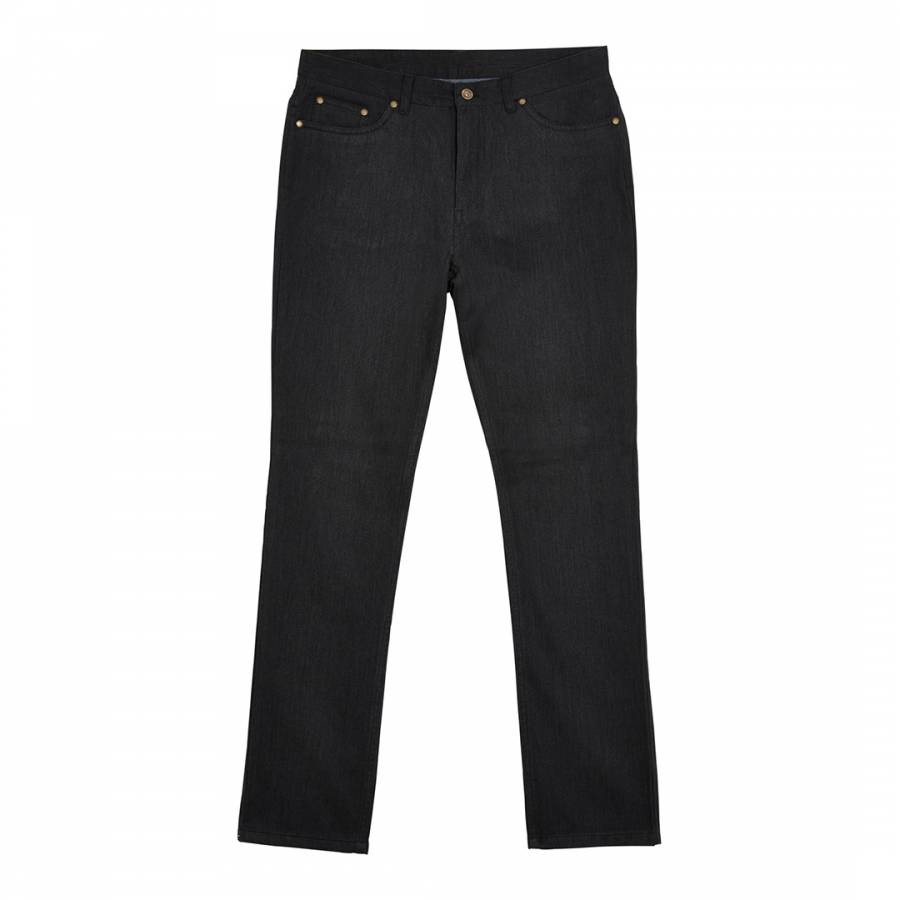 Men S Charcoal Marl Brushed Cotton Blend Trousers Brandalley