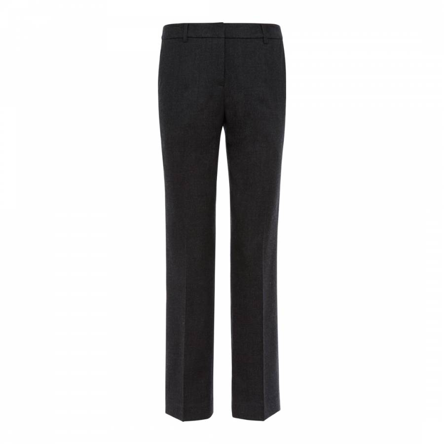 Women S Charcoal Tailored Wool Blend Suit Trousers Brandalley