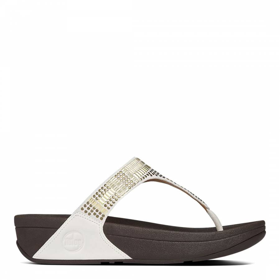 d506baa1e Urban White Leather Studded Aztek Chada Sandals - BrandAlley