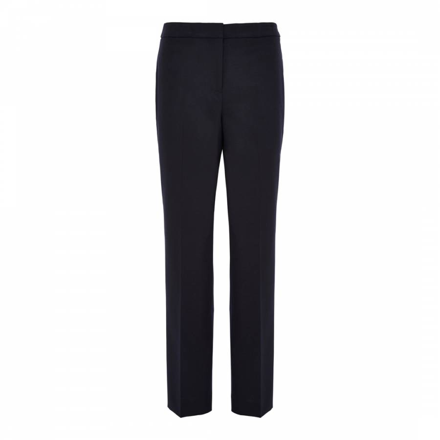 Women S Navy Tailored Wool Blend Suit Trousers Brandalley