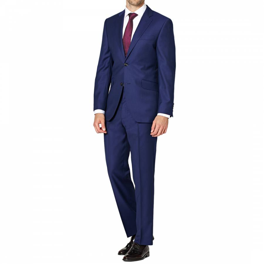Men S Navy Regular Fit Flannel Wool Suit Brandalley