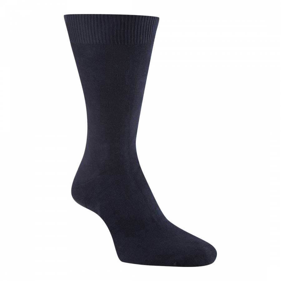Pack Of Five Navy Classic Cotton Blend Socks Brandalley
