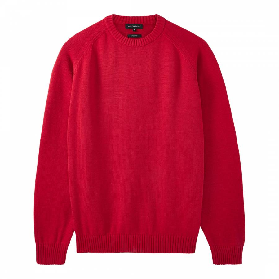 Men S Red Classic Cotton Jumper Brandalley