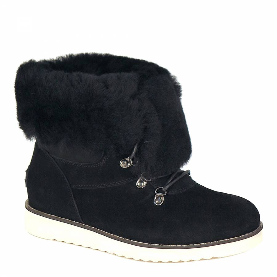 ed30967a7d1 Black Shearling Yael Boots - BrandAlley