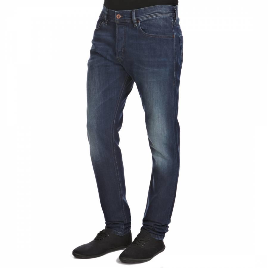bb9997e5 Dark Blue Tepphar Slim Carrot Stretch Jeans - BrandAlley