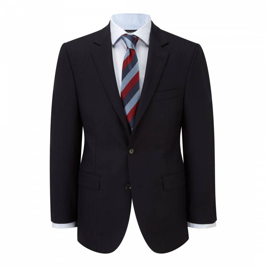 Men S Navy Regular Fit Herringbone Wool Suit Brandalley