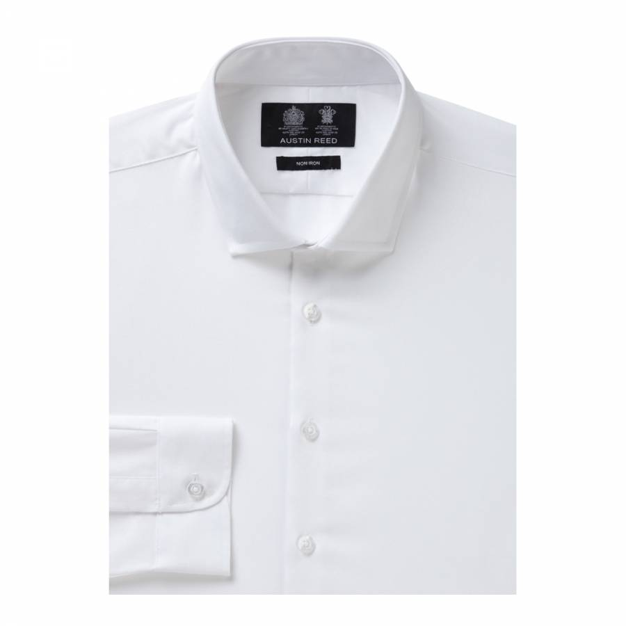 Men S White Non Iron Extra Slim Twill Cotton Shirt Brandalley