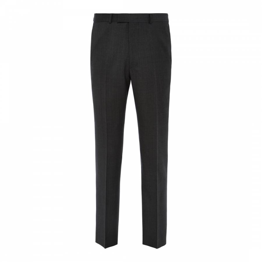 ff6d2c382 Austin Reed Men's Charcoal Cut Contemporary Fit Prince of Wales Wool  Trousers