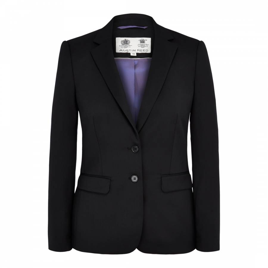 Women S Black Tailored Wool Blend Jacket Brandalley