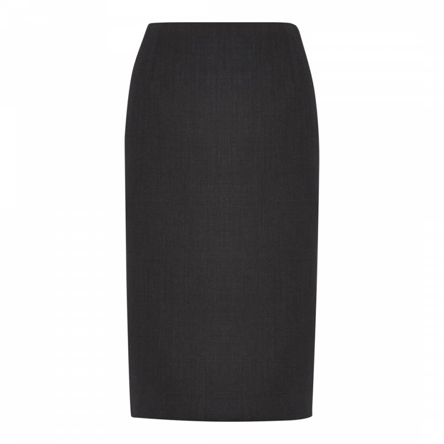 Women S Charcoal Tailored Wool Blend Pencil Skirt Brandalley