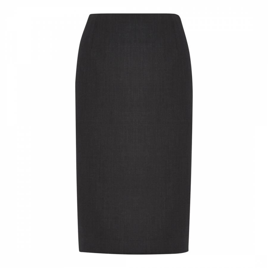 Women S Charcoal Tailored Wool Blend Pencil Skirt Brandalley