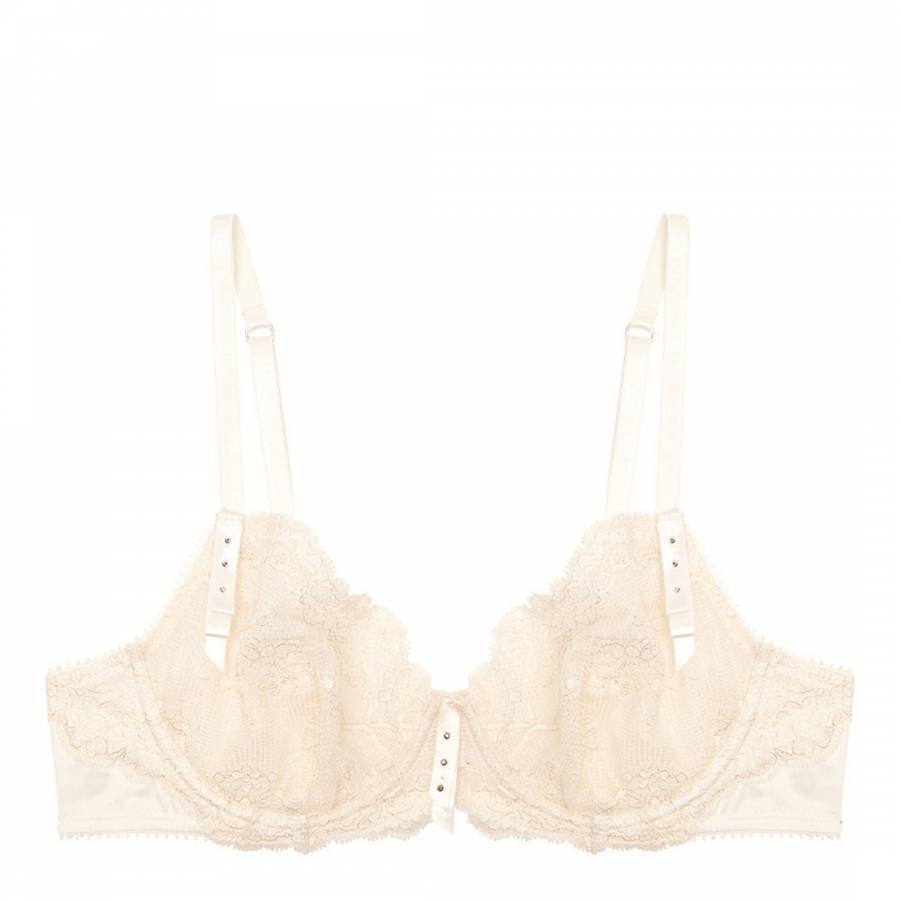 153c70418a Pleasure State White Label Ivory Lace Violet Lacey Underwired Bra
