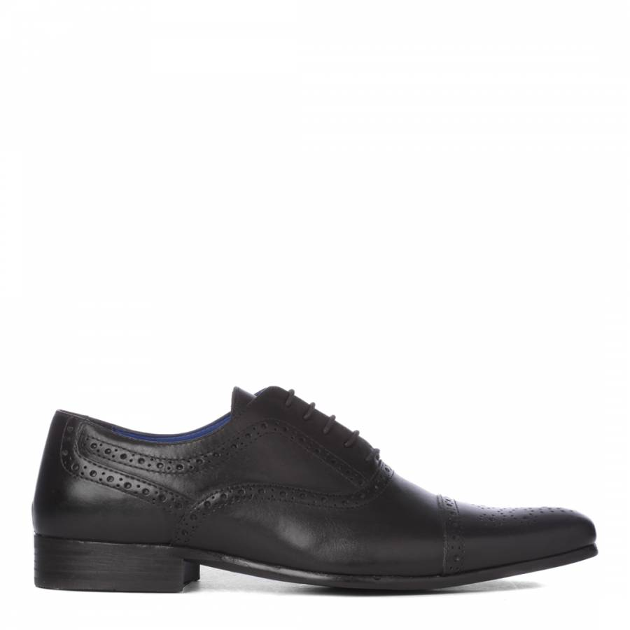 0193539470e Black Leather Slade Oxford Shoes - BrandAlley