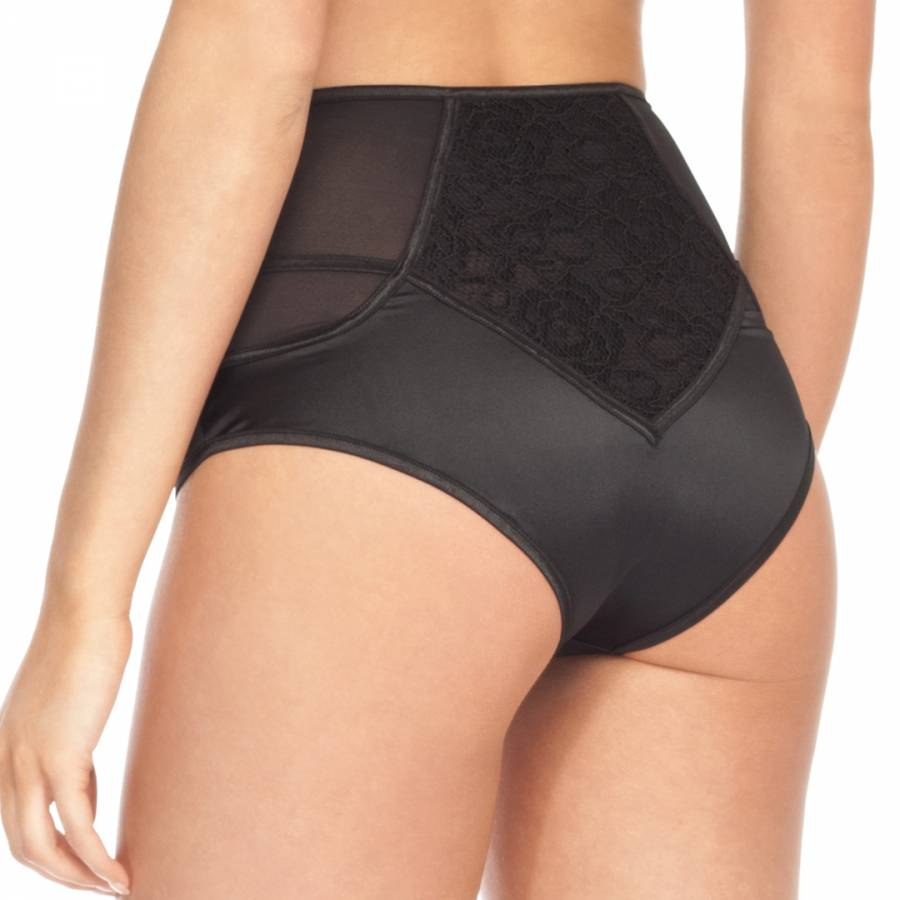 Black Lace High Waisted Silk Knickers - BrandAlley d1944247f
