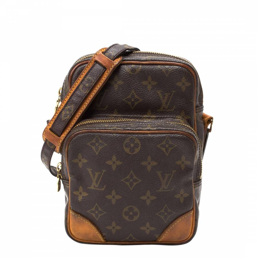 700aa41784ad Louis Vuitton Brown Leather Monogram Amazon Cross Body Bag